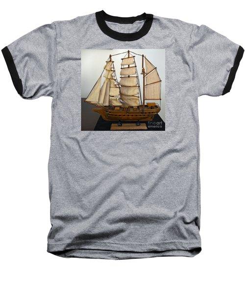Model Sailing Ship Baseball T-Shirt