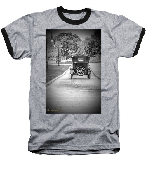 Model T Ford Down The Road Baseball T-Shirt