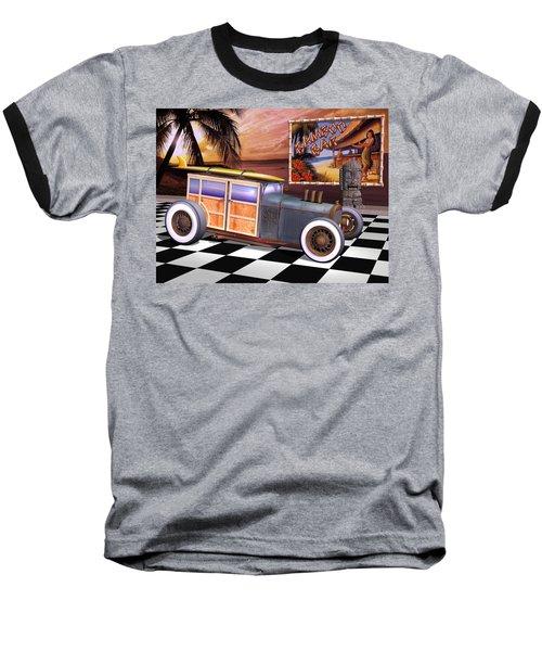 Model T Surf Woody Baseball T-Shirt
