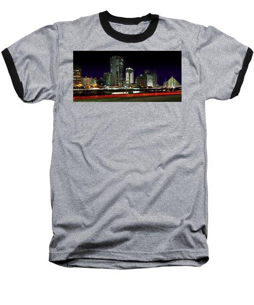 Modern Sao Paulo Skyline Near Brooklin District And Stayed Bridge Baseball T-Shirt