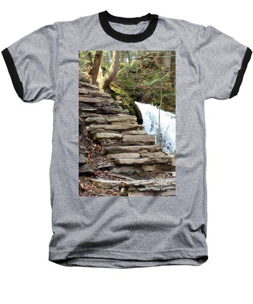 Mohawk Falls Steps Baseball T-Shirt