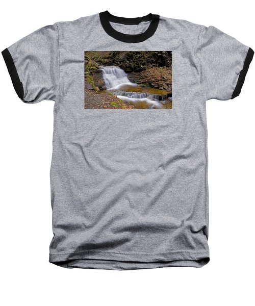 Mohican Falls In Spring Baseball T-Shirt by Shelly Gunderson
