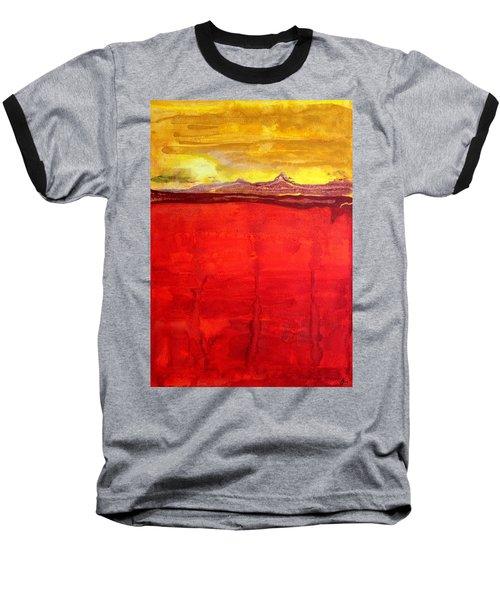 Mojave Dawn Original Painting Baseball T-Shirt