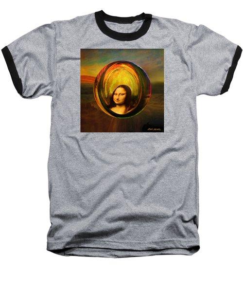 Mona Lisa Circondata Baseball T-Shirt