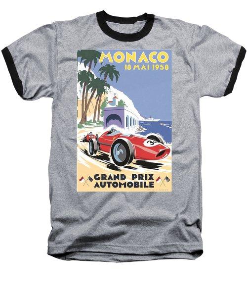 Monaco Grand Prix 1958 Baseball T-Shirt