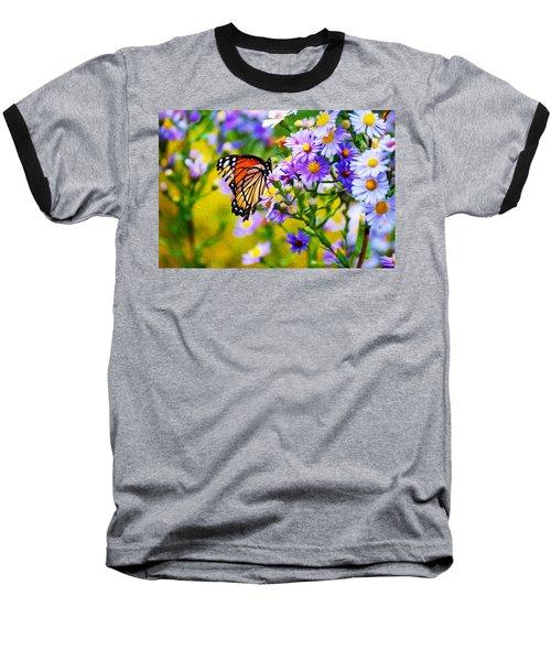 Monarch Butterfly 4 Baseball T-Shirt