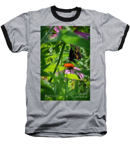 Monarch Butterfly Deep In The Jungle Baseball T-Shirt