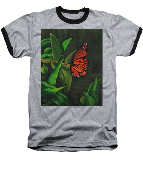 Viceroy Butterfly Oil Painting Baseball T-Shirt