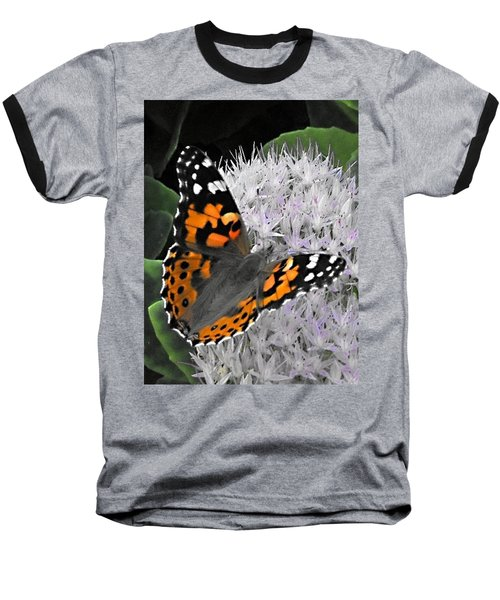 Baseball T-Shirt featuring the photograph Monarch by Photographic Arts And Design Studio