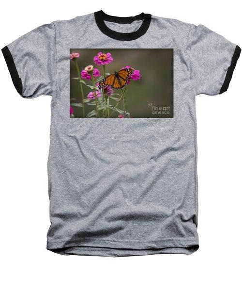 Monarch Pit Stop Baseball T-Shirt