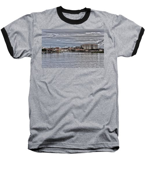 Monastery From The River Baseball T-Shirt