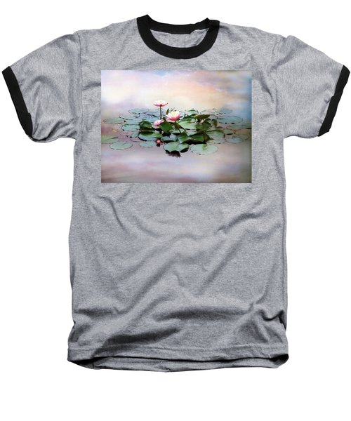 Monet Lilies  Baseball T-Shirt