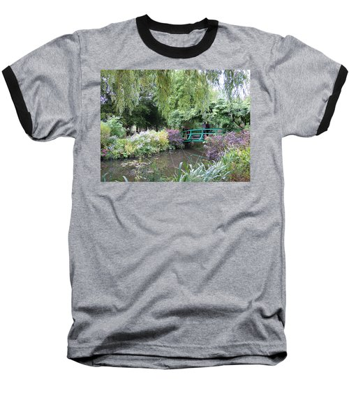 Monet's Japanese Bridge Baseball T-Shirt