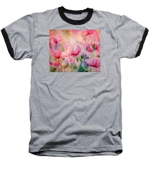 Monet's Poppies Vintage Warmth Baseball T-Shirt