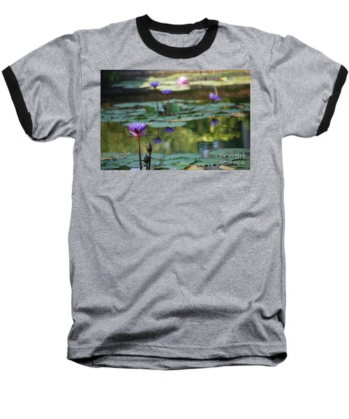Monet's Waterlily Pond Number Two Baseball T-Shirt