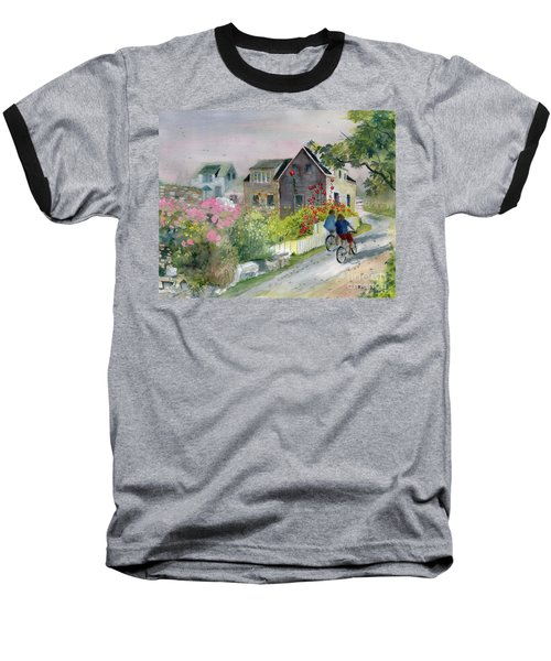 Monhegan In August Baseball T-Shirt by Melly Terpening