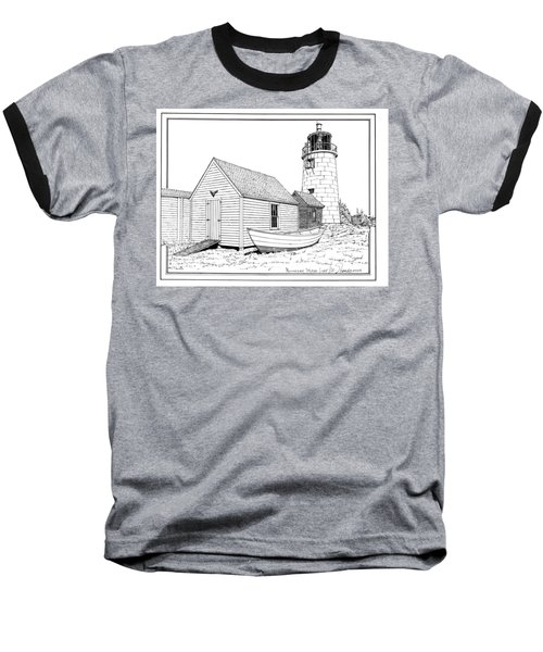 Monhegan Island Light Baseball T-Shirt