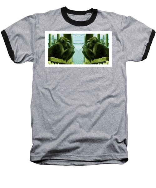Monkey See Monkey Do Baseball T-Shirt by Nina Silver
