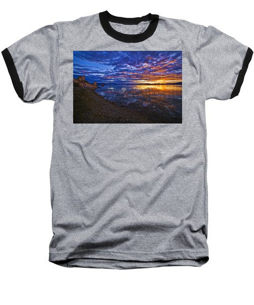 Baseball T-Shirt featuring the photograph Mono Lake Sunrise by Priscilla Burgers