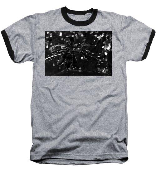 Monochrome Leaf  Baseball T-Shirt