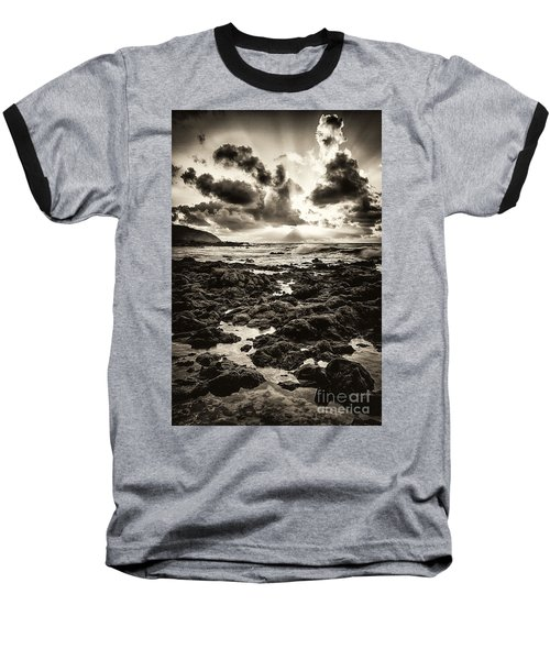 Monotone Explosion Baseball T-Shirt