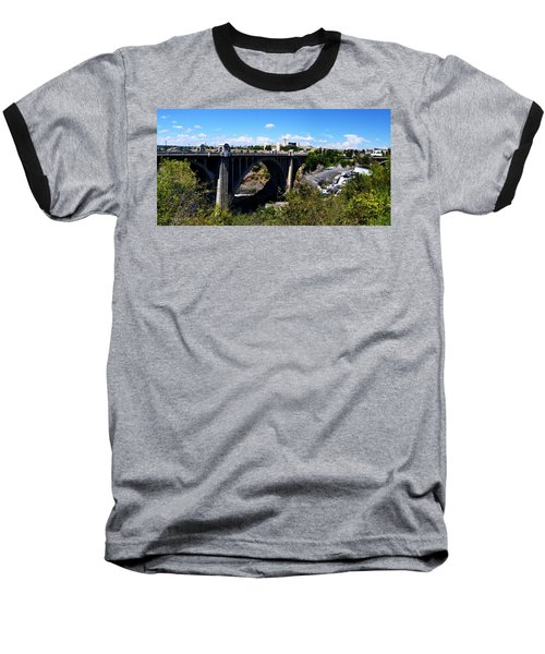 Monroe Street Bridge - Spokane Baseball T-Shirt