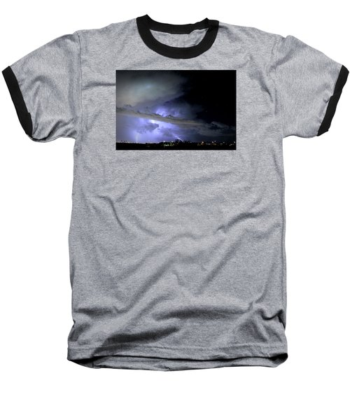 Monsoon Lightning Baseball T-Shirt