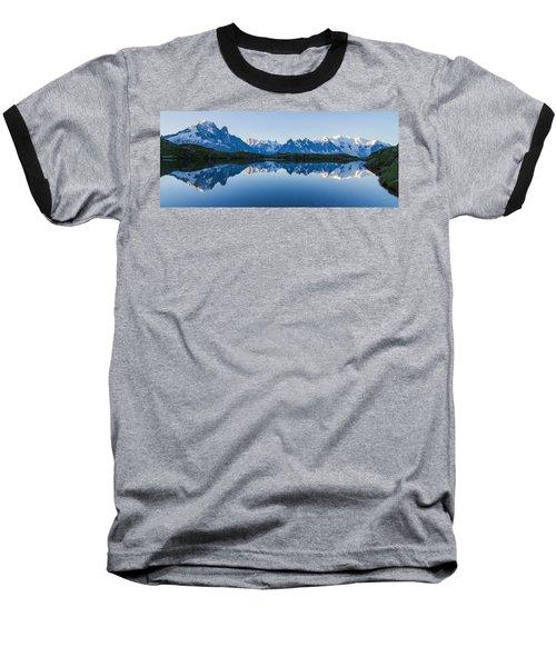 Mont Blanc Massif Panorama Baseball T-Shirt by Mircea Costina Photography