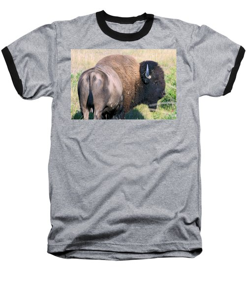 Baseball T-Shirt featuring the photograph Montana Buffalo Bison Bull by Karon Melillo DeVega