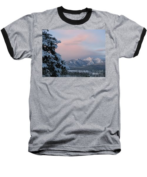 Baseball T-Shirt featuring the photograph Montana Winter by Joseph J Stevens