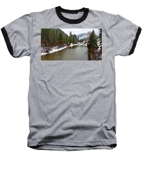 Montana Winter Baseball T-Shirt by Susan Kinney