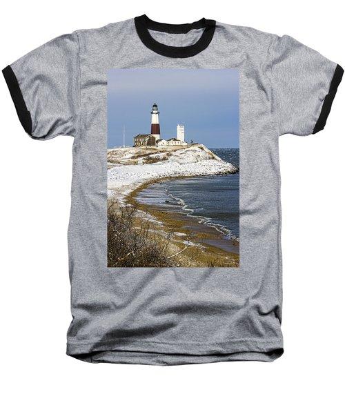 Montauk Snow Baseball T-Shirt