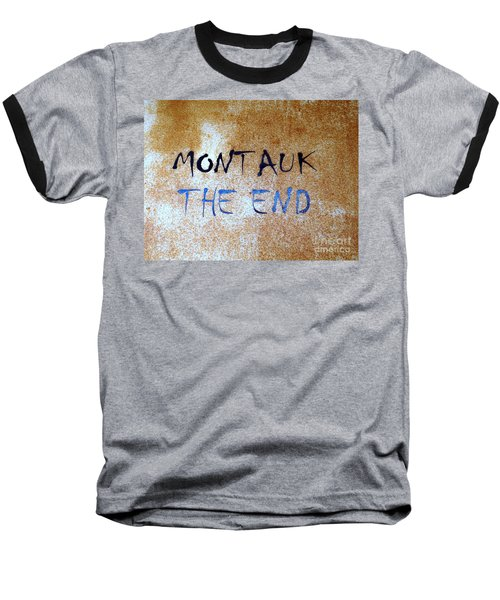 Montauk-the End Baseball T-Shirt by Ed Weidman