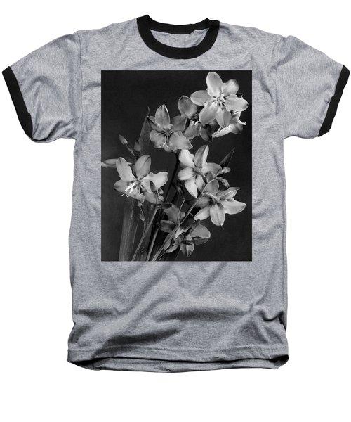 Montbretia Blossoms Baseball T-Shirt