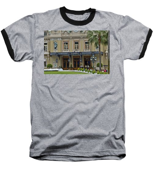 Baseball T-Shirt featuring the photograph Monte Carlo Casino by Allen Sheffield