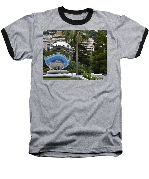 Baseball T-Shirt featuring the photograph Monte Carlo Casino In Reflection by Allen Sheffield
