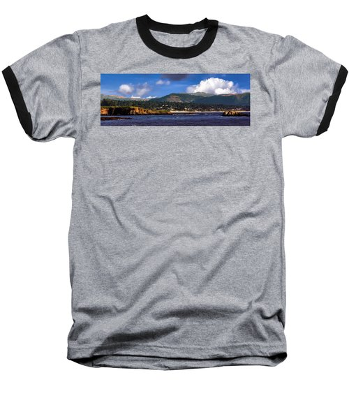 Monterey Bay California Baseball T-Shirt by Lynn Bolt