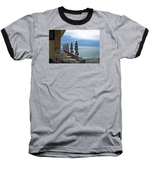 Monterosso Outdoor Cafe Baseball T-Shirt