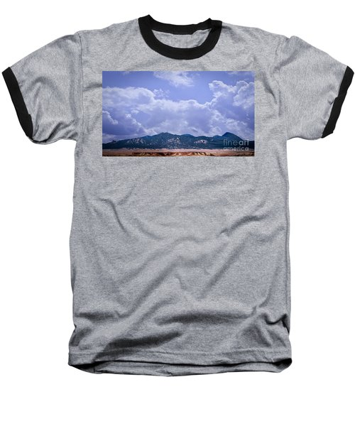 Montezuma County Landmark Baseball T-Shirt by Janice Rae Pariza