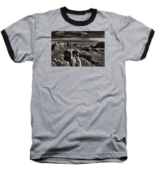 Monument Canyon Monolith Baseball T-Shirt by William Fields