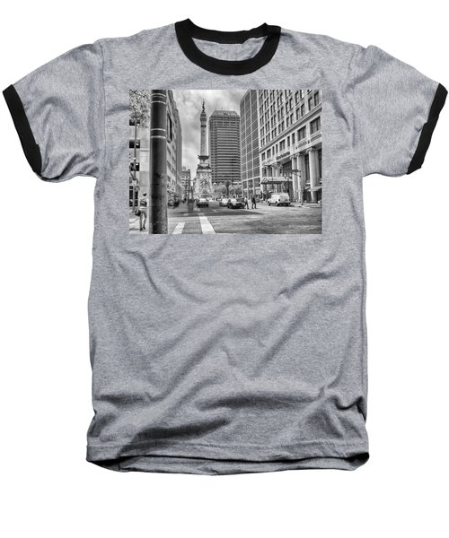 Baseball T-Shirt featuring the photograph Monument Circle by Howard Salmon