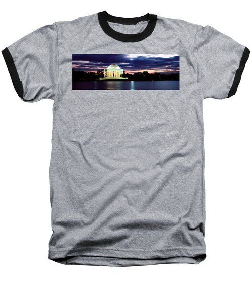 Monument Lit Up At Dusk, Jefferson Baseball T-Shirt by Panoramic Images