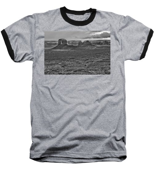 Baseball T-Shirt featuring the photograph Monument Valley 4 Bw by Ron White
