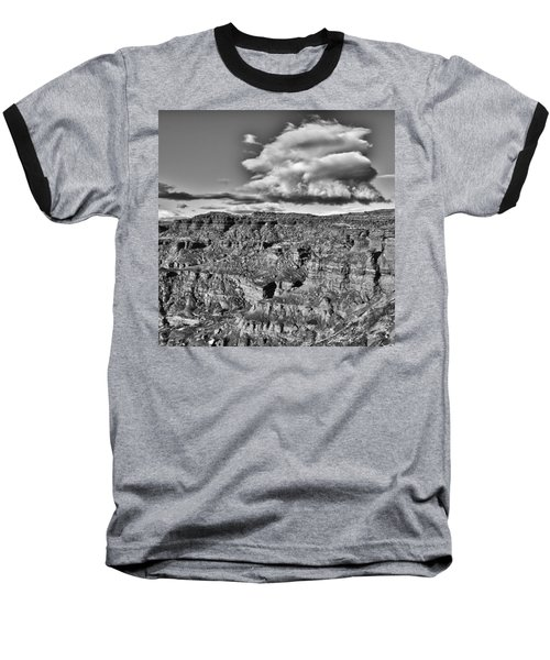 Baseball T-Shirt featuring the photograph Monument Valley 5 Bw by Ron White