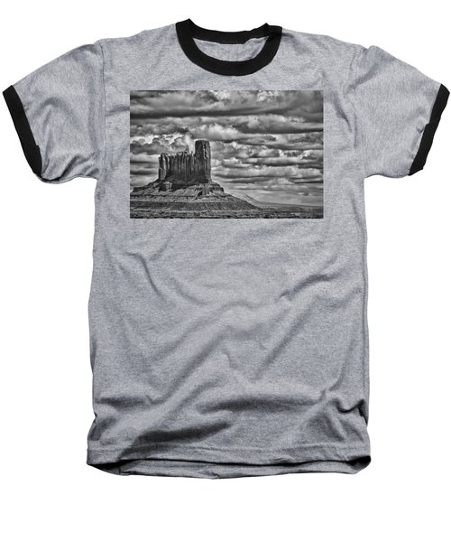 Baseball T-Shirt featuring the photograph Monument Valley 6 Bw by Ron White