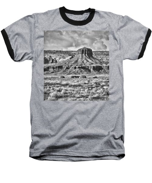 Baseball T-Shirt featuring the photograph Monument Valley 7 Bw by Ron White
