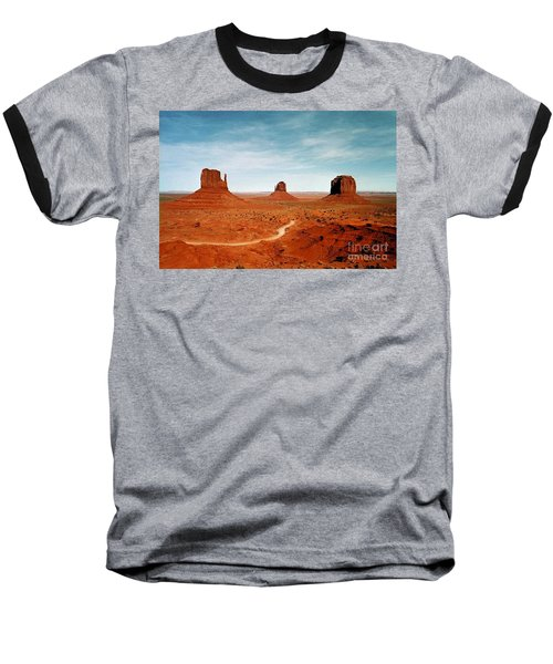 Baseball T-Shirt featuring the photograph Monument Valley by The Art of Alice Terrill