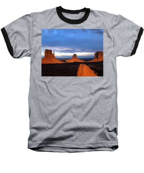 Baseball T-Shirt featuring the photograph Monument Valley @ Sunset 2 by Jeff Brunton