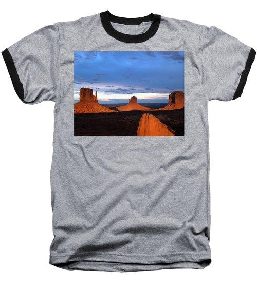 Monument Valley @ Sunset 2 Baseball T-Shirt by Jeff Brunton