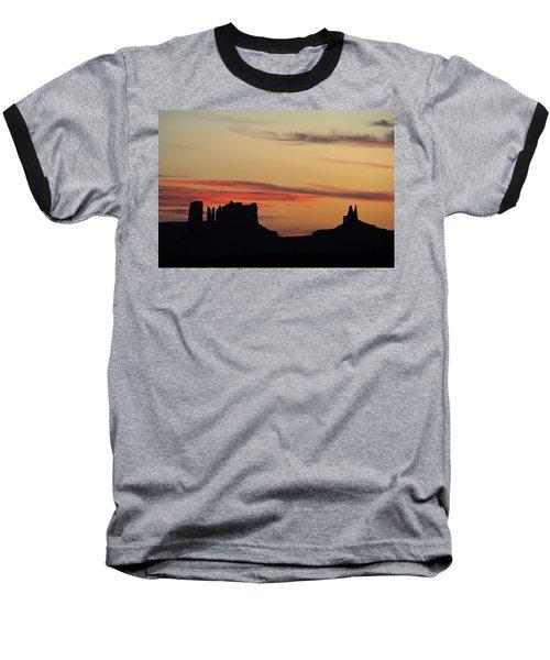 Monument Valley Sunset 1 Baseball T-Shirt by Jeff Brunton